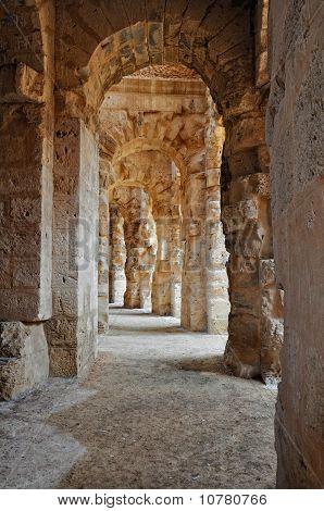 Passage In Ancient Roman Amphitheater