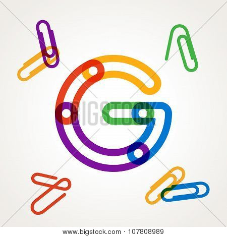 G Letter From Paper Clip Alphabet.