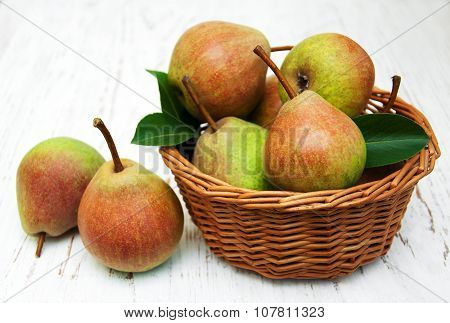 Basket With Pears