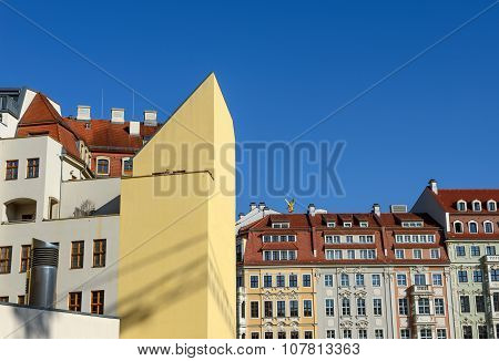 Buildings Of Quarter Iii And Rampiche Street In Dresden, Germany.
