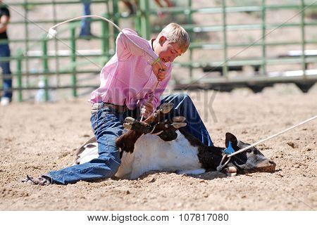 Cowboy Calf Tying