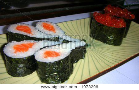 Salmon Rolls & Ikura