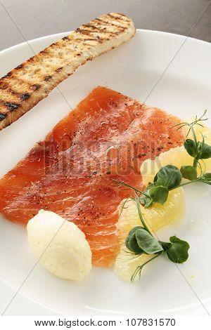 smoked salmon appetizer