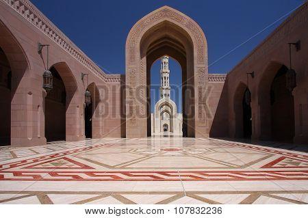 Muscat, Oman - Sultan Qaboos Grand Mosque poster