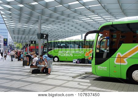 ZOB Hannover Is A Central Bus Station For Intercity Long Distance Travel