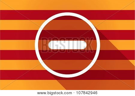 Long Shadow Catalonia Vector Flag With A Subtraction Sign