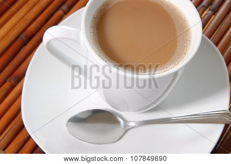 Coffee, Plate And Spoon