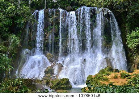 El Nicho Waterfall In Scambray Mountains. Cienfuegos Province, Cuba.