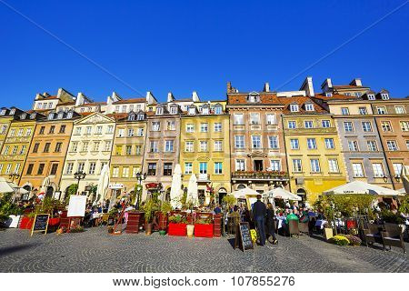 Townhouses In The Old Town Square, Warsaw