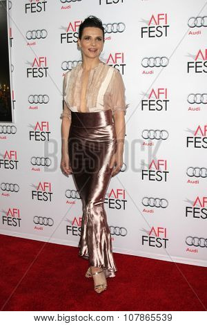 LOS ANGELES - NOV 9:  Juliette Binoche at the AFI Fest 2015 Presented by Audi -