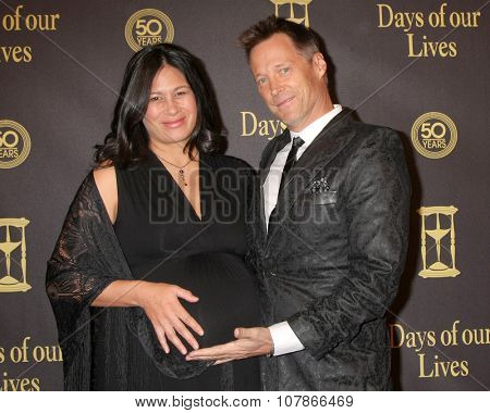 LOS ANGELES - NOV 7:  Lana Buss, Matthew Ashford at the Days of Our Lives 50th Anniversary Party at the Hollywood Palladium on November 7, 2015 in Los Angeles, CA