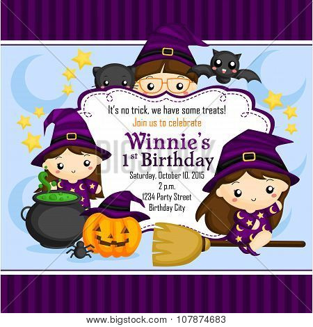 Halloween Witch Invitation