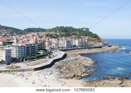 Beautiful coast landscape. Bayona in northwest Spain