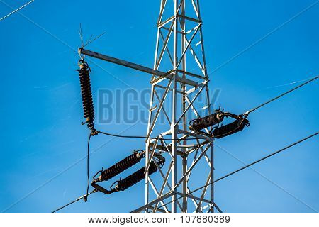 Close View On The Powerlines