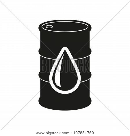 The barrel icon. Cask and oil, gasoline, petrol, benzine symbol. Flat Vector illustration poster