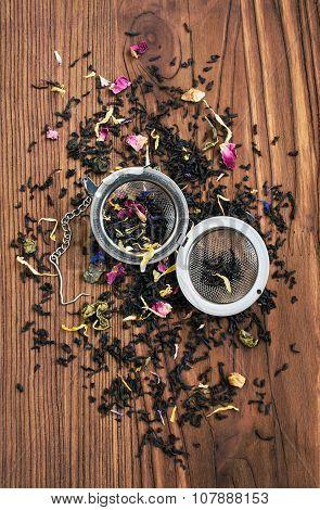 Herbal Tea And Tea Strainer