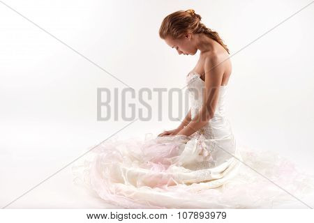 Bride On A White Background
