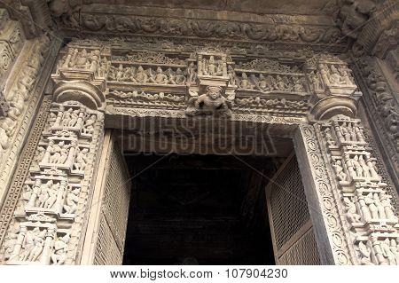 Carved Stone Door Frame