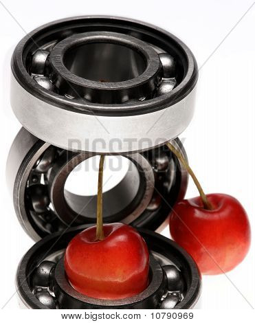 The Bearing And Sweet Cherry Berries