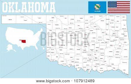 Oklahoma county map