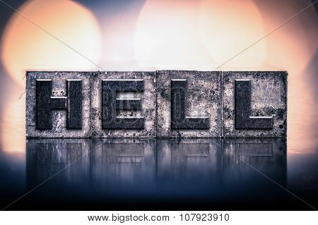 Hell Concept Vintage Letterpress Type
