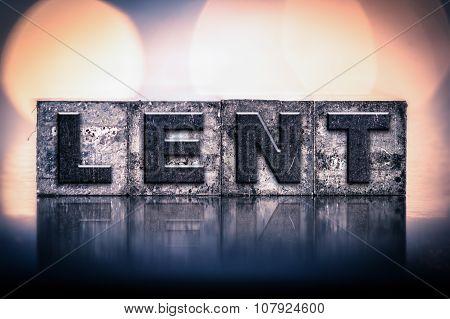 Lent Concept Vintage Letterpress Type