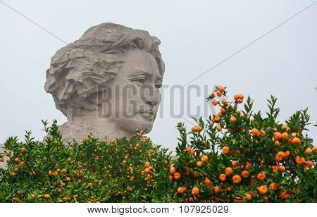 Chairman Mao Statue In Changsha