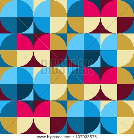 Seamless pattern colored circles
