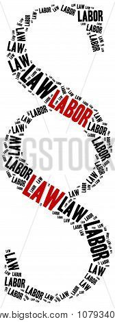 Labor law. Concept related to different areas of law. poster