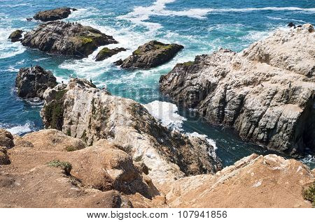 Bodega Head Cliffs And Outcroppings