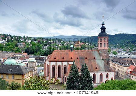 Panorama of Baden-Baden, Germany