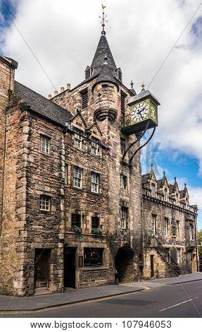 Canongate Toll Booth Clock, Royal Mile, Edinburgh, Scotland