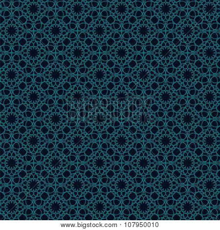 Geometric seamless pattern. This ornament may be used for design of cards, tablecloth, cloth, bedlin