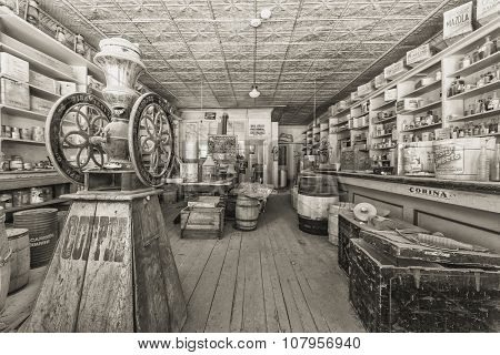Vintage Historic Store In Bodie Ghost Town