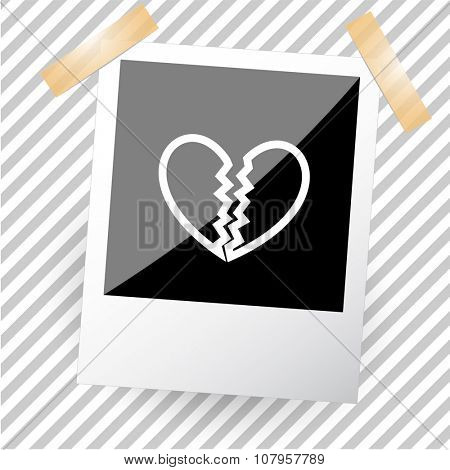 unrequited love. Photo frame. Vector icon.