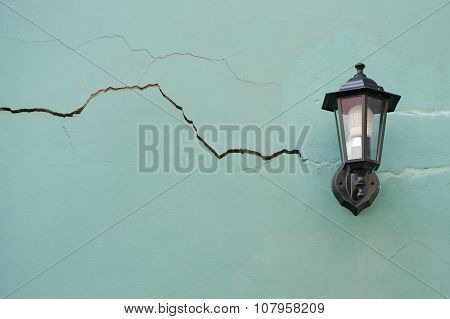 Lantern On The Cracked Wall..