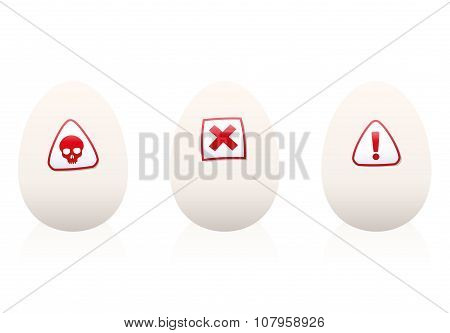 Unhealthy Eggs Danger Symbol