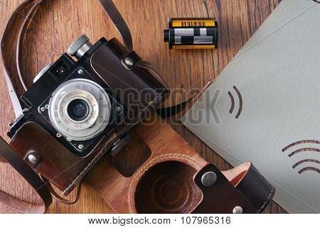 vintage old film photo camera