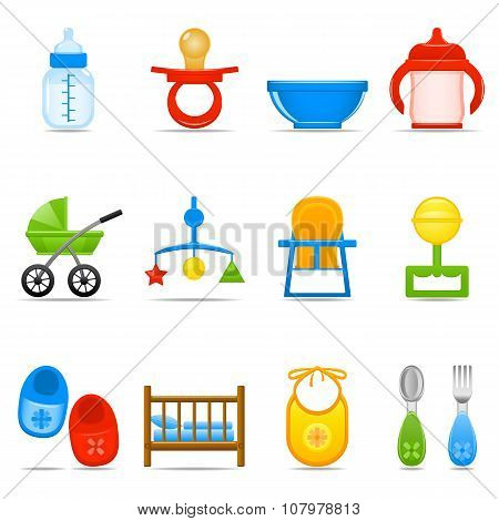 Icon Set Baby Care