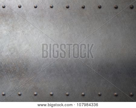 steel metal armor with rivets background