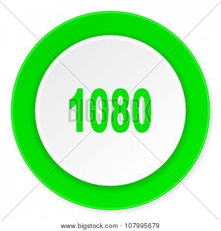 1080 green fresh circle 3d modern flat design icon on white background