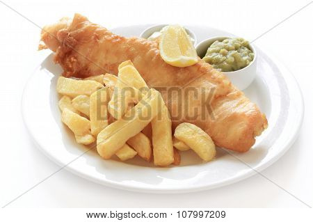 traditional battered fish and chips