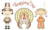 Vintage thanksgiving day cards with holiday elements for design poster