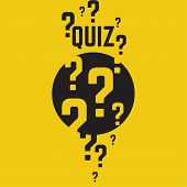 Quiz background. The concept is the question with the answer. vector. poster