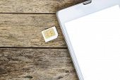 smart phone use with micro sim card white screen poster
