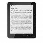 Ebook - Lorem Ipsum - new e-reader with lorem ipsum text poster
