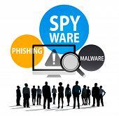Spyware Hacking Phishing Malware Virus Concept poster