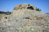 Tomb of Orpheus in Antique Thracian sanctuary Tatul, Kardzhali Region, Bulgaria poster