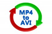 converting mp4 to avi concept isolated on white background poster