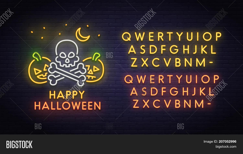 Skull Pumpkin Neon Image & Photo (Free Trial) | Bigstock
